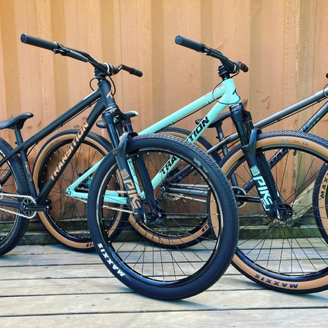 What's your favorite flavor?   All colors and sizes in stock now!   #transitionbikes #nodignoride #dirtjumper #dirtjump #thehubpisgah
