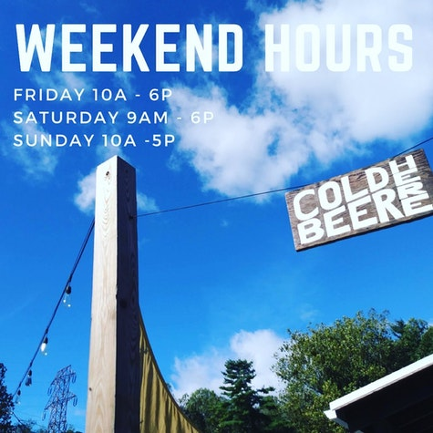 We are OPEN regular hours this weekend! We will have cold beer flowing all weekend 🍻  #thehubpisgah #pisgahtavern #coldbeerhere